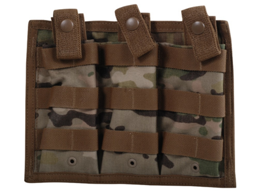 Spec.-Ops. X-3 MOLLE Compatible Triple Magazine Shingle AR-15 Nylon MulitCam