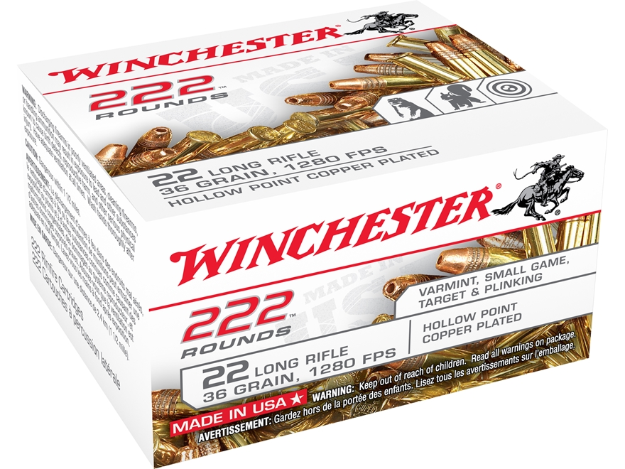 Winchester Ammunition 22 Long Rifle 36 Grain Plated Lead Hollow Point