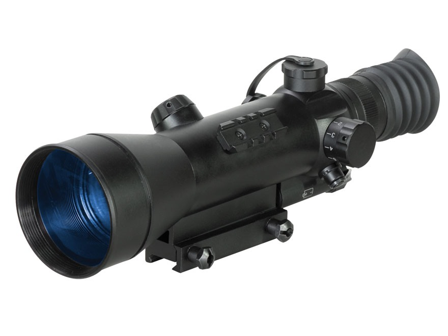 ATN Night Arrow 4-2 2nd+ Generation Night Vision Rifle Scope 4x Illuminated Red Duplex Reticle with Integral Weaver-Style Mount Matte