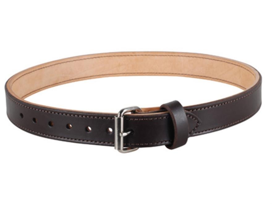 "Lenwood Leather Double Layer Belt 1.75"" Steel Buckle Leather"
