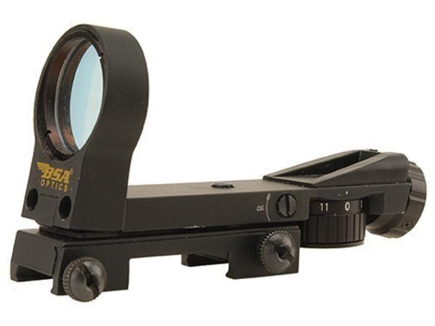 BSA Reflex Red Dot Sight 33mm Heads Up Display 4-Pattern Reticle (2 MOA Dot, Crosshair with 1 MOA Dot, Open Crosshair with 1 MOA Dot, 25 MOA Circle with 6 MOA Dot) Matte
