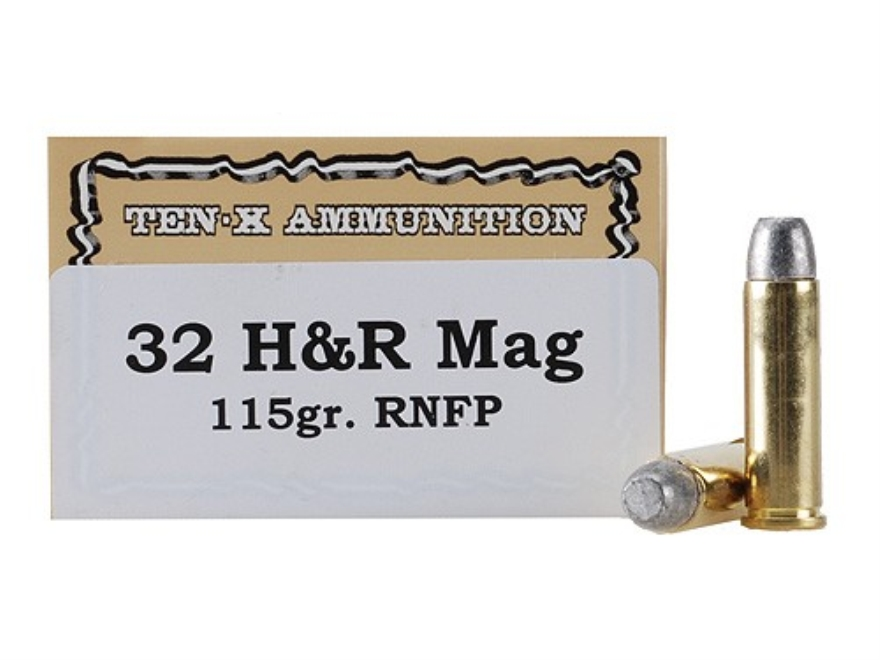 Ten-X Cowboy Ammunition 32 H&R Magnum 115 Grain Lead Round Nose Box of 50