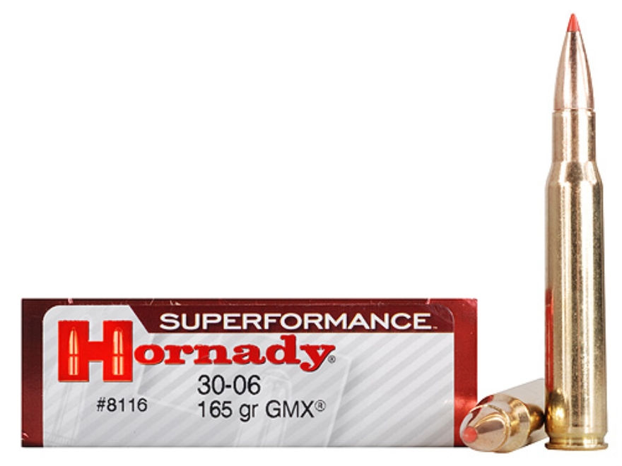 Hornady SUPERFORMANCE Ammunition 30-06 Springfield 165 Grain GMX Boat Tail Lead-Free Box of 20