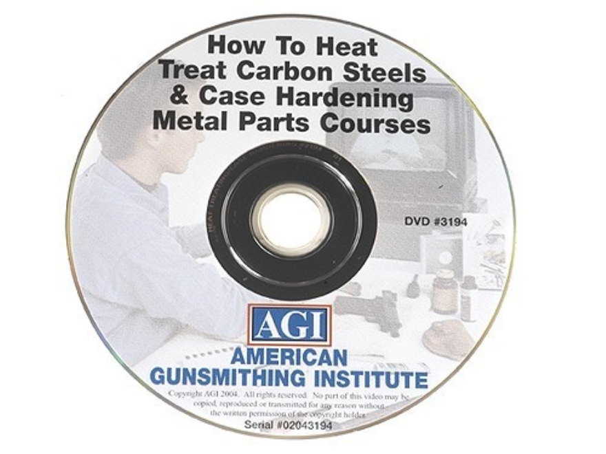 "American Gunsmithing Institute (AGI) Video ""How to Heat Treat Carbon Steels & Case Hardening Metal Parts"" DVD"