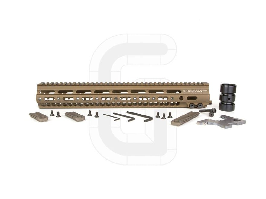 Geissele Super Modular Rail MK1 Free Float Handguard AR-15 Aluminum Desert Dirt Color 15""