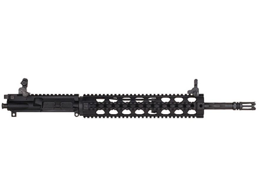 "Yankee Hill AR-15 Lightweight Specter XL Upper Assembly 6.8mm Remington SPC 1 in 10"" Twist 16"" Fluted Barrel Chrome Lined with Quad Rail Free Float Handguard, Flip-Up Sights, Flash Hider"
