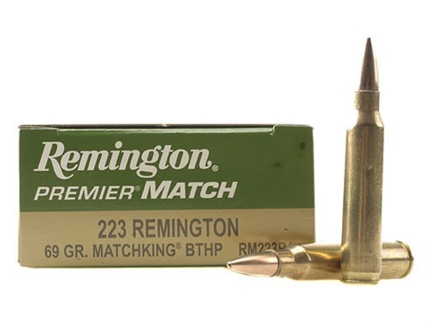 Remington Premier Match Ammunition 223 Remington 69 Grain Sierra Matchking Hollow Point...