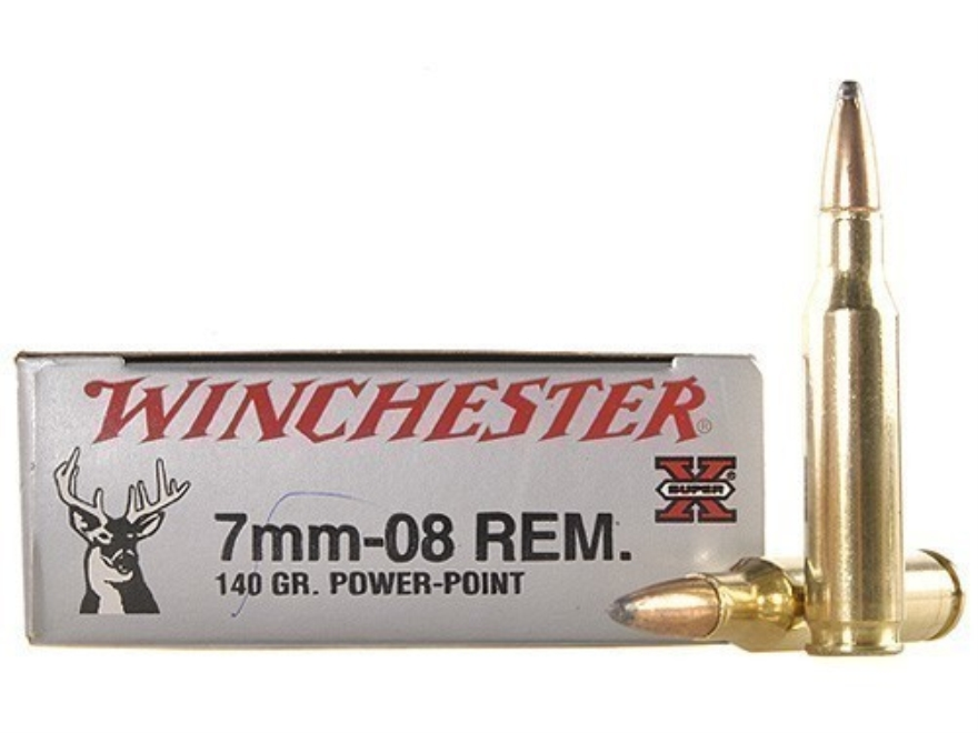 Winchester Super-X Ammunition 7mm-08 Remington 140 Grain Power-Point