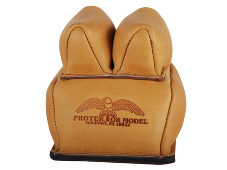 Protektor Custom Rabbit Ear Rear Shooting Rest Bag with Heavy Bottom Leather Tan Filled