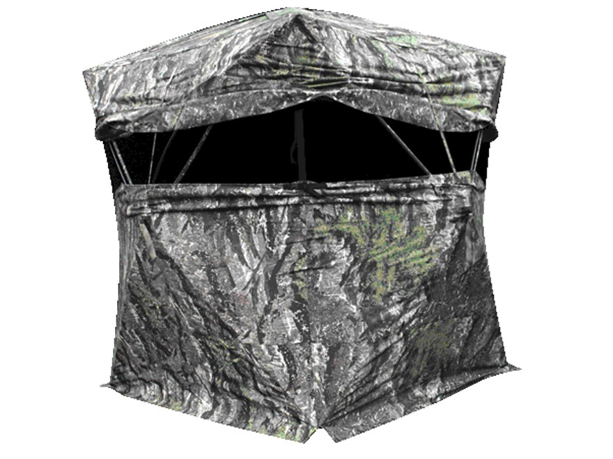 "Primos Blind Luck Ground Blind 58"" x 58"" x 77"" Polyester Ground Swat Gray Camo"