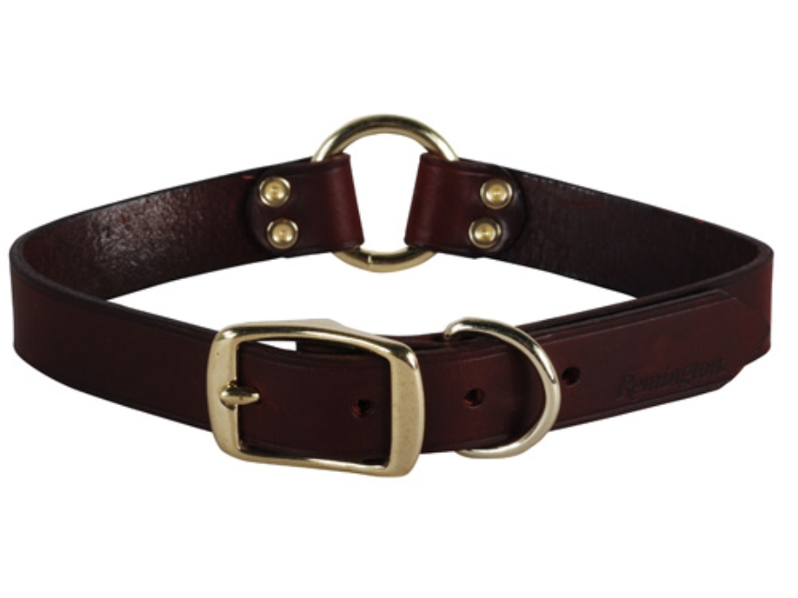 "Remington Latigo Dog Collar 1"" x 20"" Leather Brown"