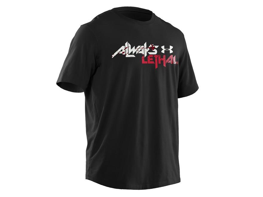 Under Armour Men's Always Lethal T-Shirt Short Sleeve Cotton Black Large 42-44