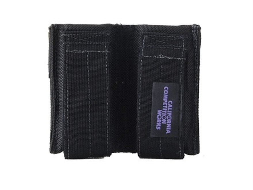 California Competition Works Double Magazine Pouch Single Stack Pistol Magazine Nylon Black