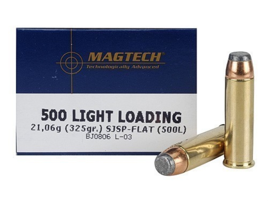 Magtech Sport Ammunition 500 S&W Magnum 325 Grain Light Loading Semi Jacketed Soft Poin...