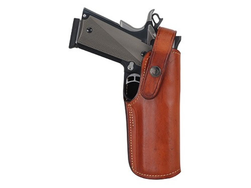 Ross Leather Universal Belt Holster Right Hand Large Frame Semi-Automatic Leather Tan