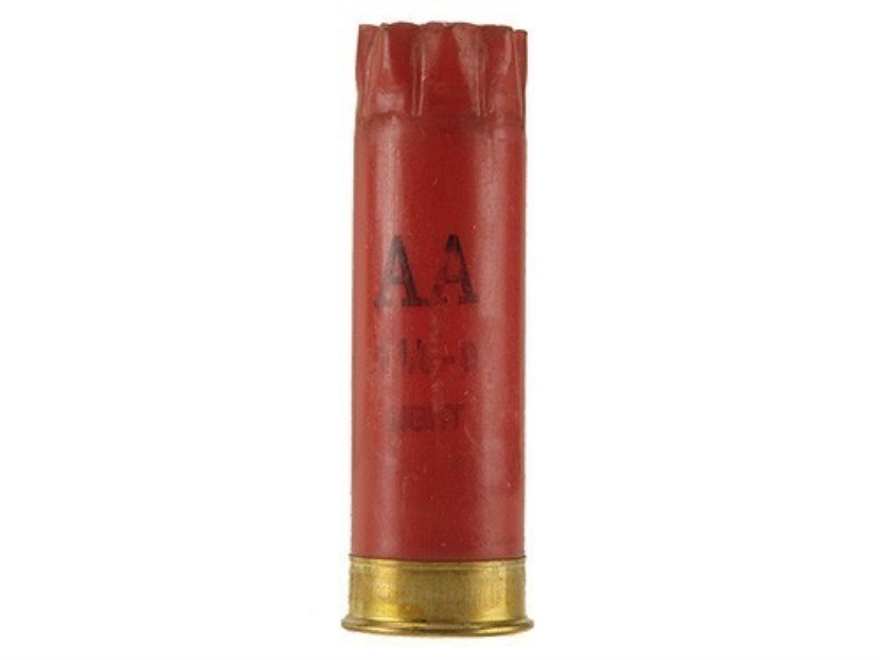 "Once-Fired Winchester AA Shotshell Hulls 12 Gauge 2-3/4"" 8 Point Crimp Red Bag of 100"