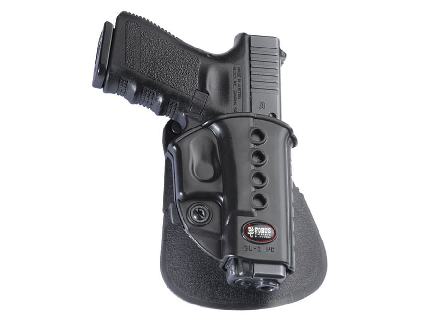 Fobus Evolution Roto Paddle Holster Right Hand Glock 17, 19, 22, 23, 34, 35 Polymer Black