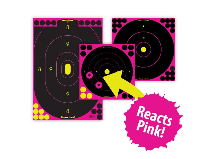 "Birchwood Casey Shoot-N-C Pink Targets 12"" x 18"" Silhouette Package of 5"