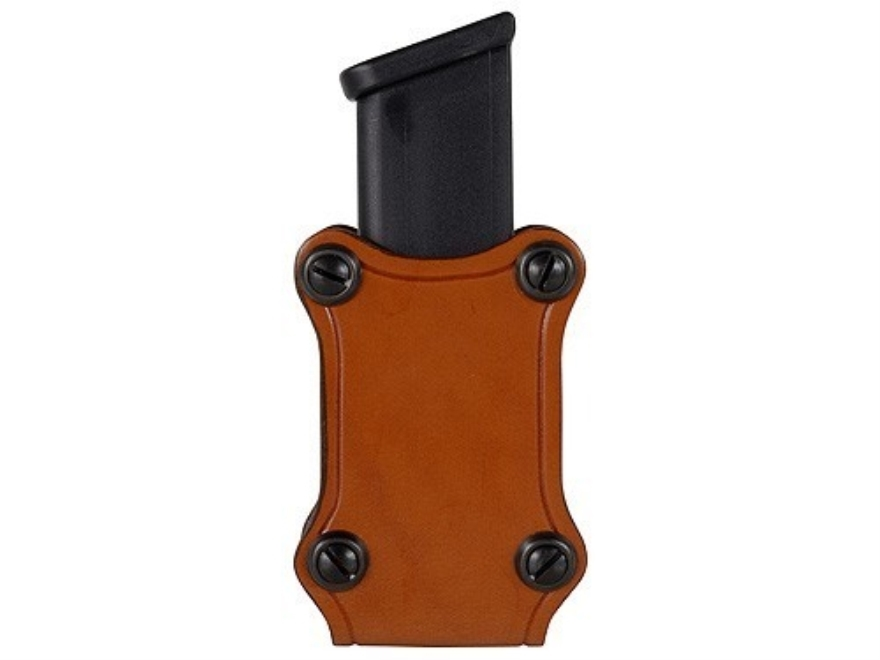 Hunter 5401 Pro-Hide Single Magazine Pouch Double-Stack Magazine Leather Brown