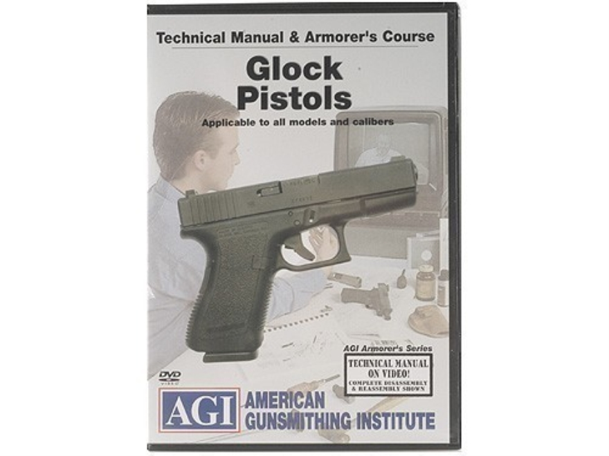 "American Gunsmithing Institute (AGI) Technical Manual & Armorer's Course Video ""Glock Pistols"" DVD"