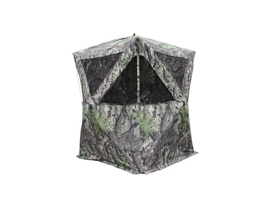 "Primos The Club XL Ground Blind 58"" x 58"" x 72"" Polyester Ground Swat Gray Camo"
