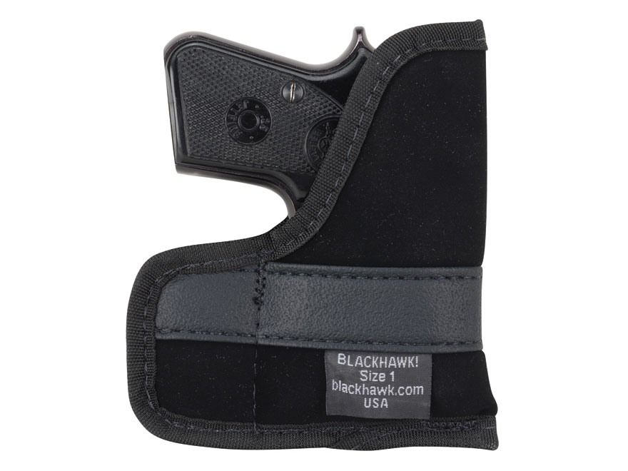 BLACKHAWK! Pocket Holster Ambidextrous Small Frame Semi-Automatic 22 Caliber, 25 ACP 4-Layer Laminate Black