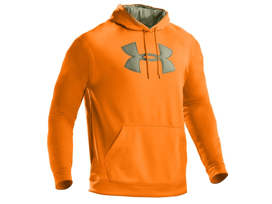 under armour mens big logo hooded sweatshirt polyester