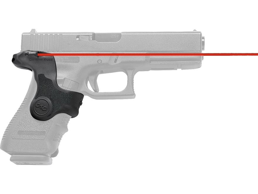 Crimson Trace Lasergrips Glock Gen-3 17, 17L, 19, 22, 23, 31, 32, 34, 35, 37, 38 Front Activation Polymer Black