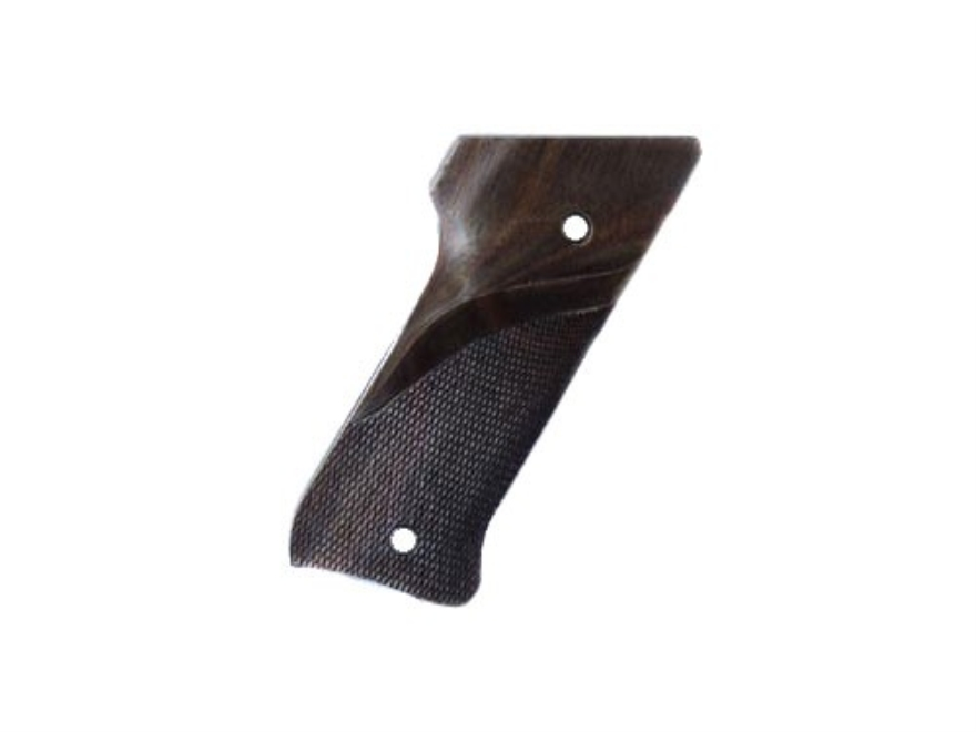 Hogue Fancy Hardwood Grips Ruger Mark II with Left Hand Thumbrest Checkered