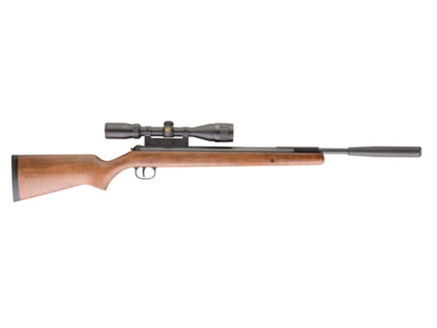 RWS 350 Feuerkraft Pro Compact Air Rifle 177 Caliber Wood Stock Blue Barrel with 3-9x40mm Scope
