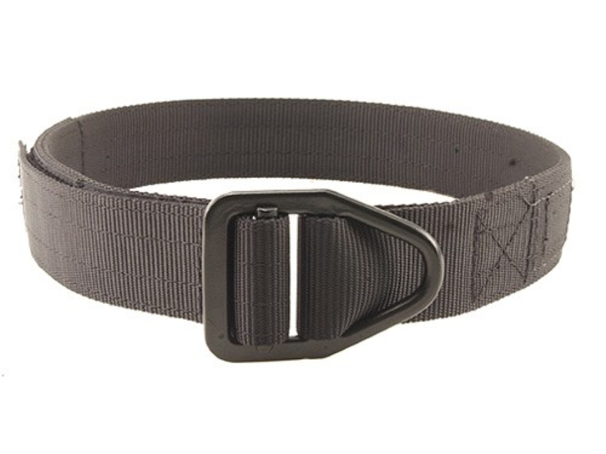"Uncle Mike's Reinforced Instructor Belt 1-1/2"" Black Steel Buckle Polymer Reinforced Nylon Black 50""-54"""