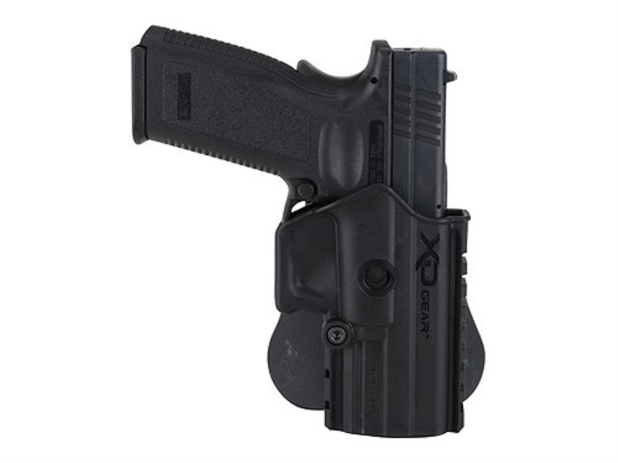Springfield Armory XD Gear Paddle Holster with Picatinny-Style Accessory Rail Ambidextrous Springfield XD Polymer Black