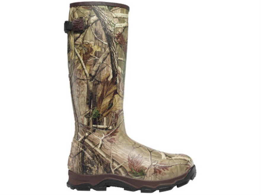 "LaCrosse 4XBurly 18"" Waterproof 1200 Gram Insulated Hunting Boots Rubber Clad Neoprene Realtree AP Camo Men's 11 D"
