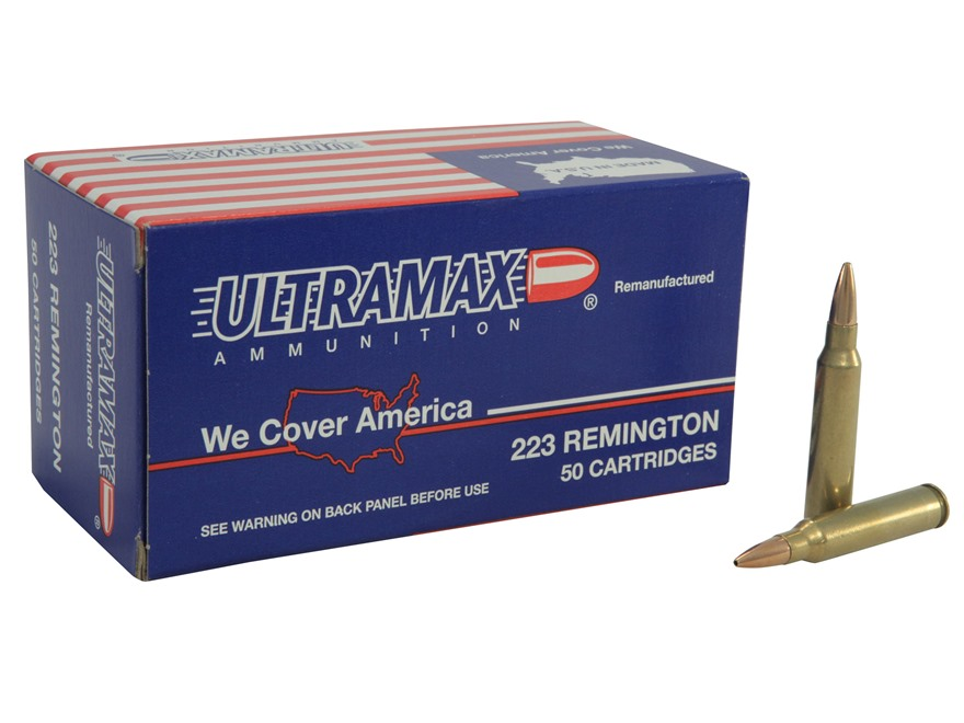 Ultramax Remanufactured Ammunition 223 Remington 50 Grain Speer TNT Box of 50