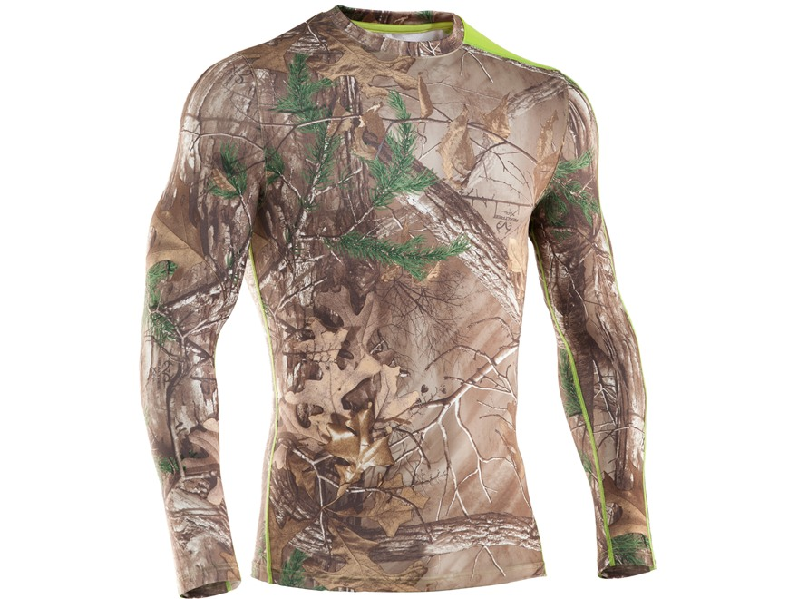 Under Armour Men's EVO Scent Control Crew Base Layer Shirt