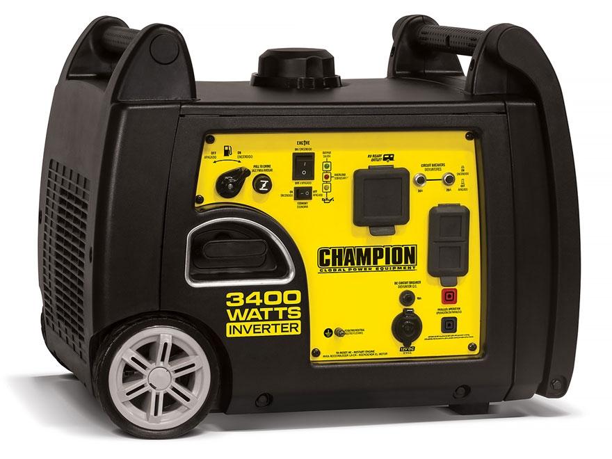 Champion 3100 3400 Watt Gas Powered Inverter Generator