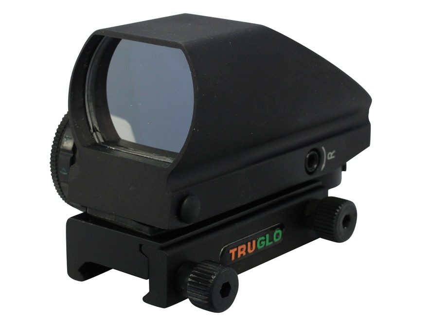 TRUGLO Tru-Brite Reflex Red Dot Sight Red and Green 4-Pattern Reticle (2.5 MOA Dot, 5 MOA Dot, 2.5 MOA Circle Dot, 5 MOA Circle Dot) with Integral Weaver-Style Base Matte