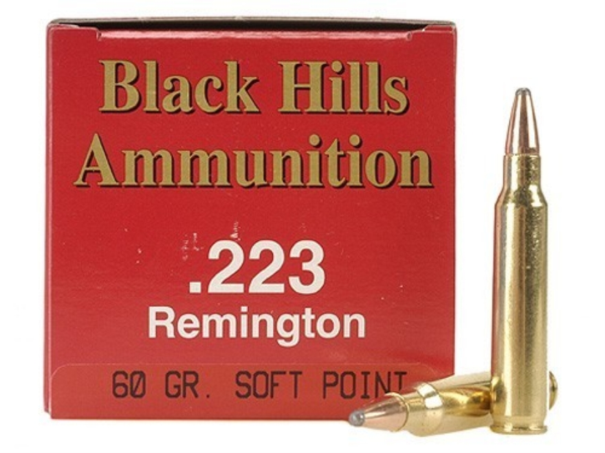 Black Hills Ammunition 223 Remington 60 Grain Soft Point Box of 50