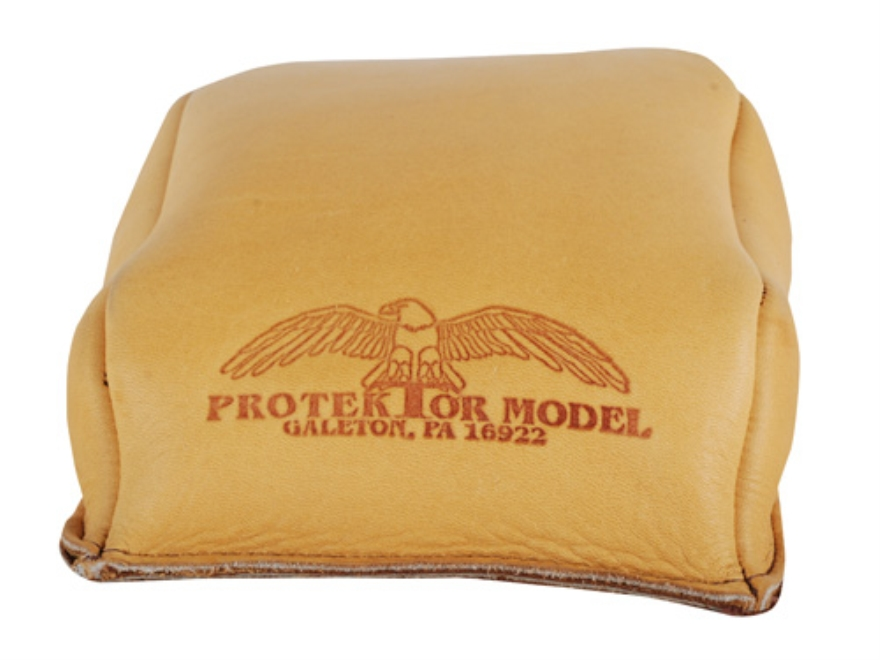 Protektor Standard Rear Shooting Rest Bag Leather Tan Filled