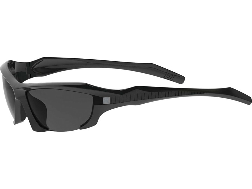 5.11 Burner Half Frame Sunglasses Black Matte Polymer Frame with Clear, Smoke and Ballistic Orange Lenses