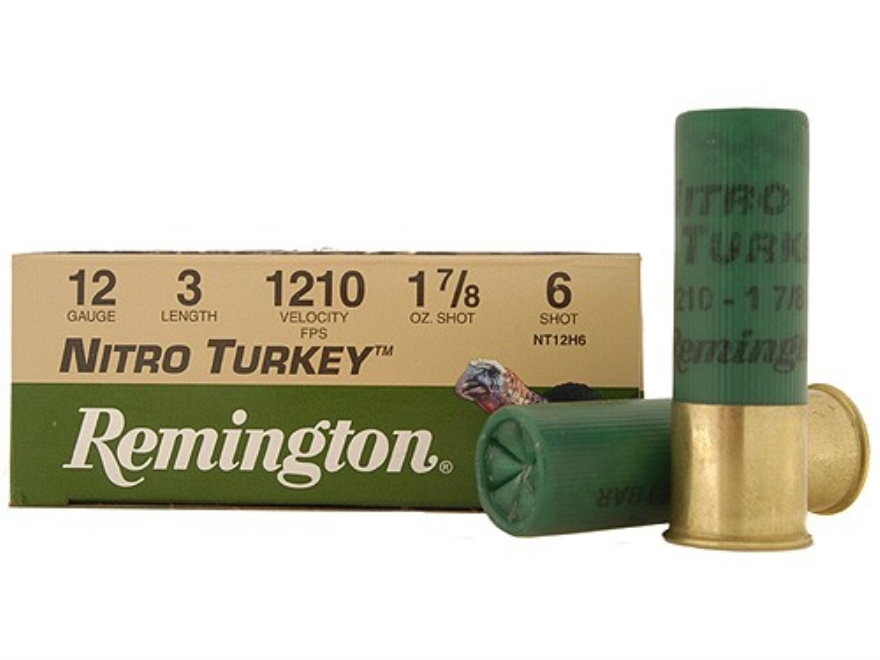 "Remington Nitro Turkey Ammunition 12 Gauge 3"" 1-7/8 oz of #6 Buffered Shot Box of 10"