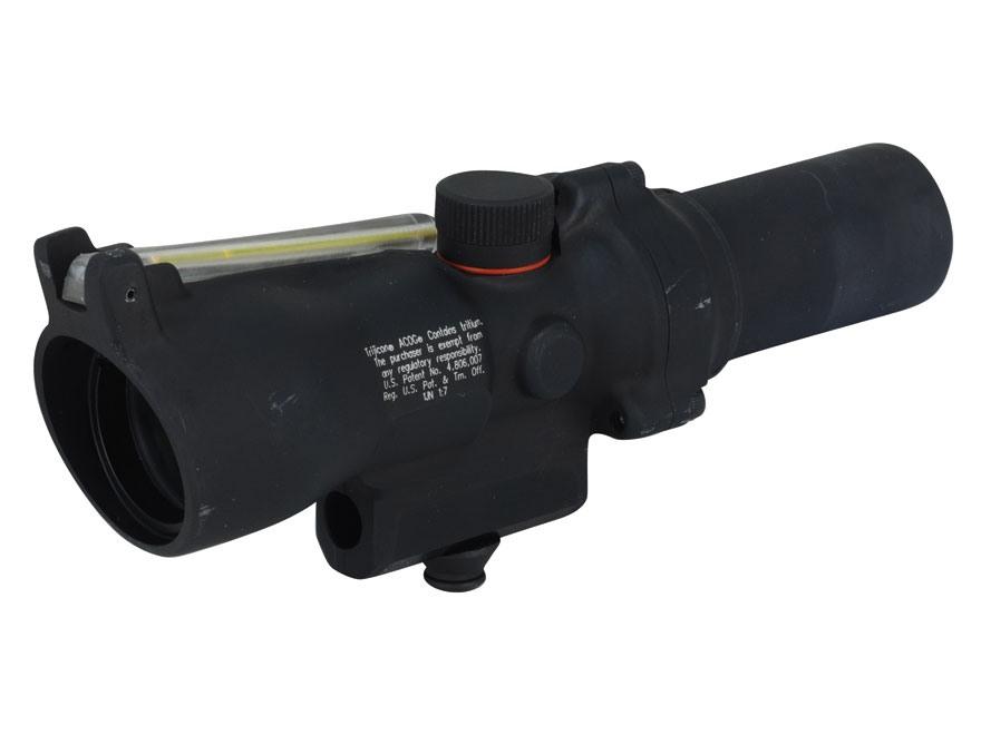 Trijicon ACOG TA45 Rifle Scope 1.5x 24mm Dual-Illuminated Amber Triangle Reticle with A...