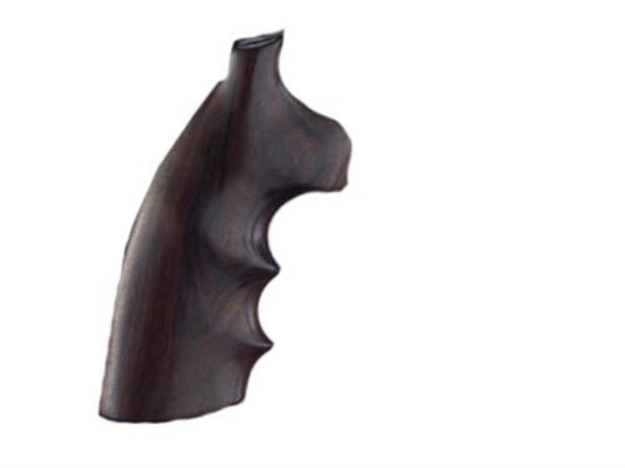 Hogue Fancy Hardwood Grips with Finger Grooves Colt Diamondback