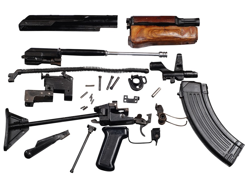 Military Surplus AK-47 Egyptian Maadi Side Folding Stock Parts Kit with 30-Round Magazine 7.62x39mm