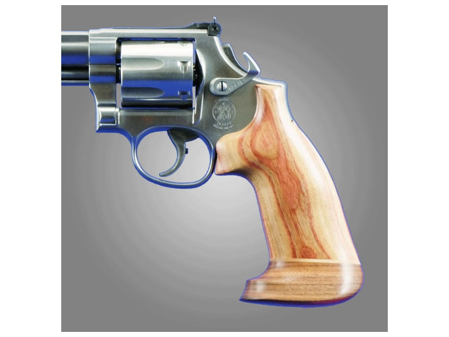Hogue Fancy Hardwood Grips with Accent Stripe Dan Wesson Large Frame Oversize
