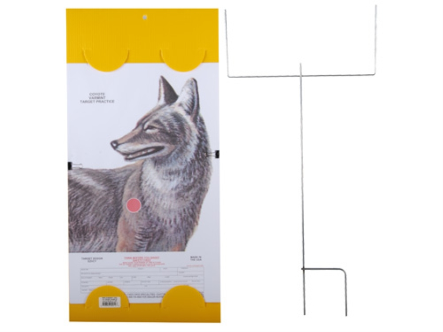"EZ Target Coyote Master Pack Target 14"" x 22"" Paper Pack of 15 with Stand and Backer"