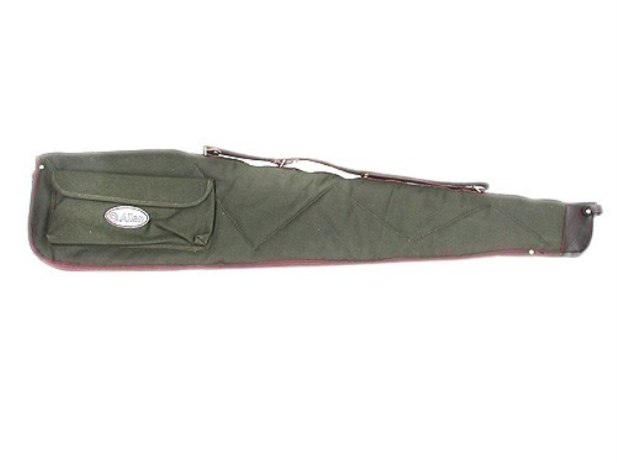 "Allen Scoped Rifle Gun Case 46"" with Pocket and Sling Quilted Canvas Green with Leather Trim"