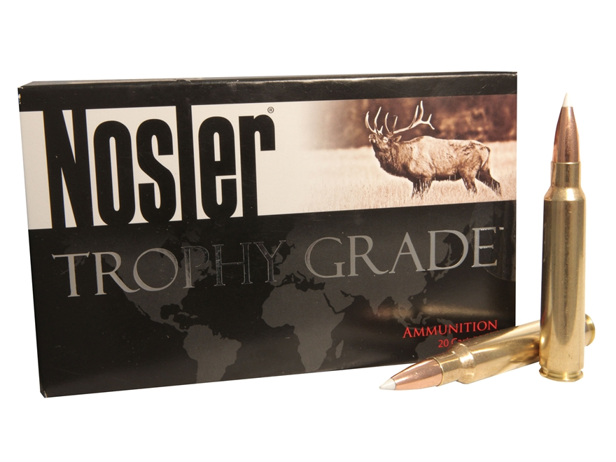 Nosler Trophy Grade Ammunition 338 Remington Ultra Magnum 300 Grain AccuBond Long Range Box of 20