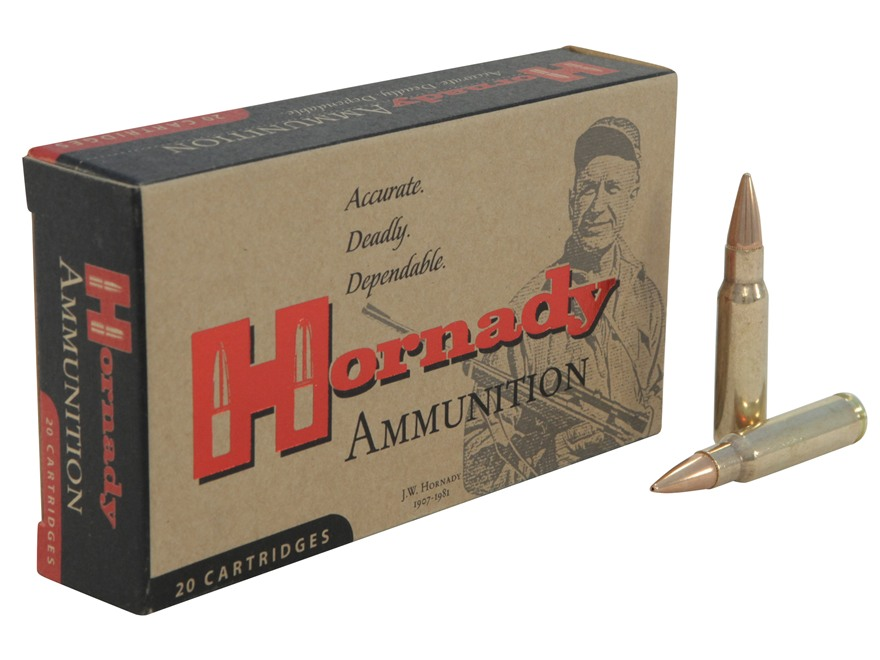 Hornady Custom Ammunition 6.8mm Remington SPC 110 Grain Hollow Point Boat Tail Box of 20