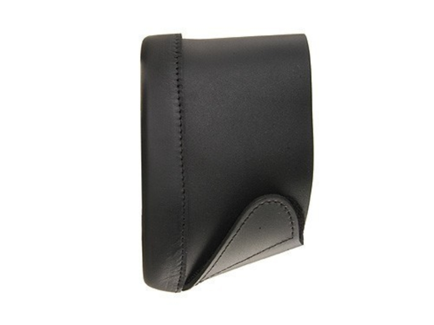 "Pachmayr Deluxe Recoil Pad Slip-On 5-3/8"" High x 1-3/4"" Wide x 3/4"" Thick Leather Black Large"
